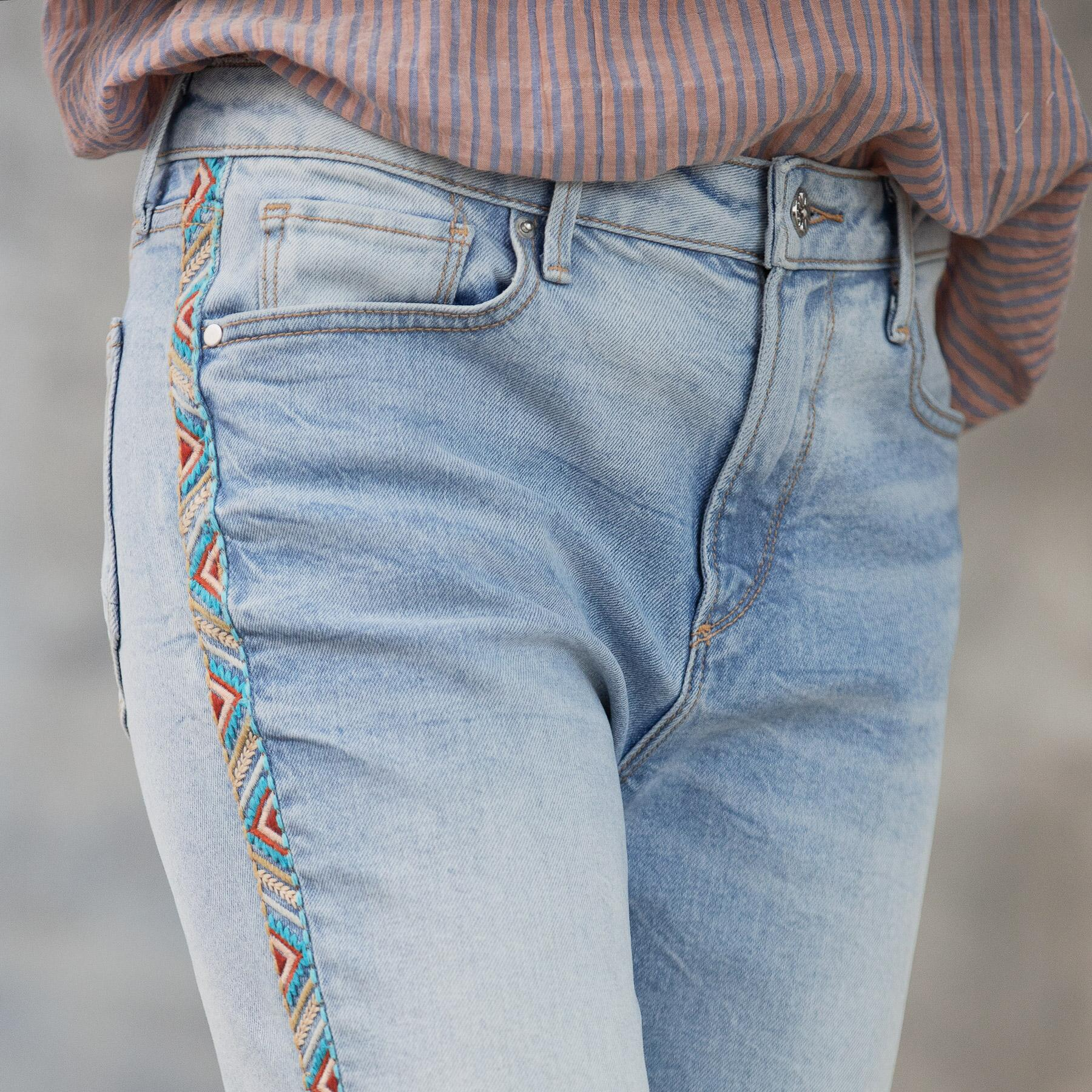 AUDREY HIGH RISE STRAIGHT JEANS: View 6