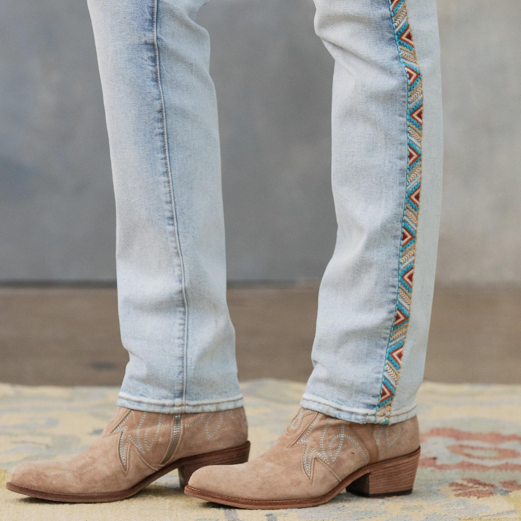 AUDREY HIGH RISE STRAIGHT JEANS: View 7