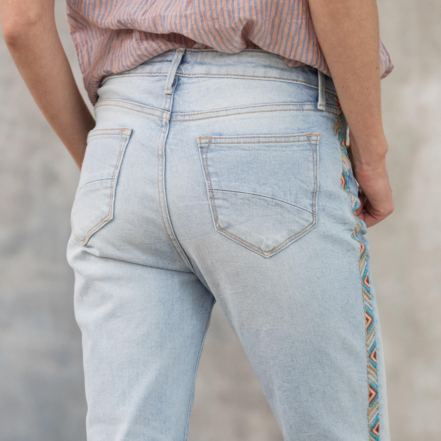 AUDREY HIGH RISE STRAIGHT JEANS: View 8