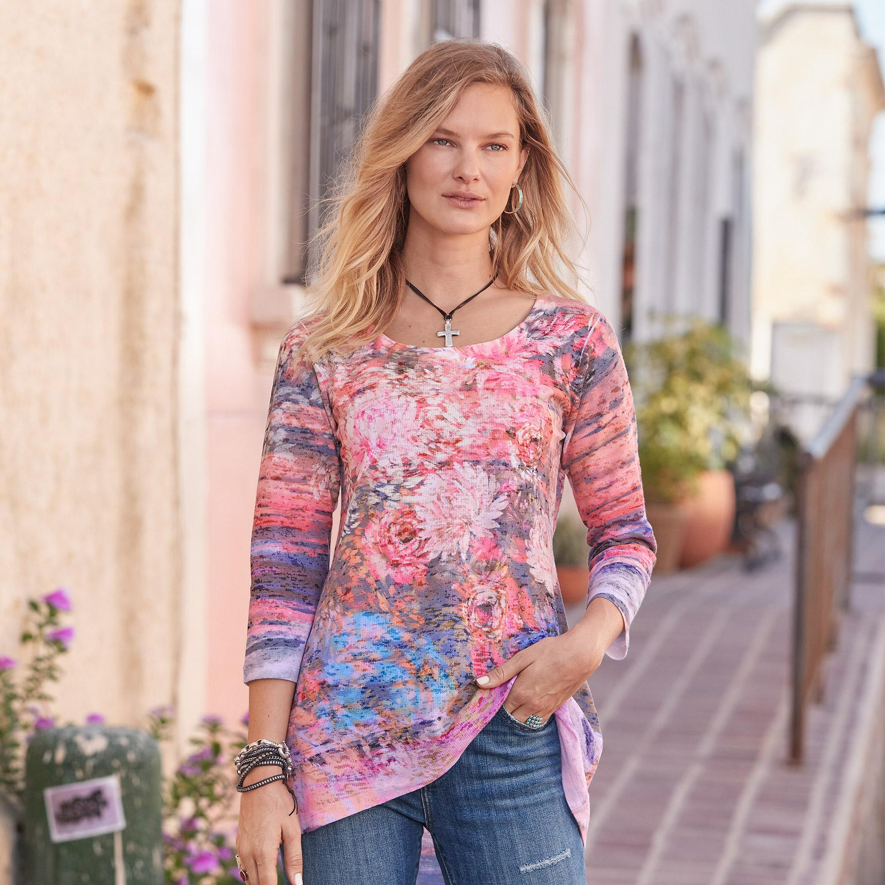 FOSTER FLORAL TOP: View 1