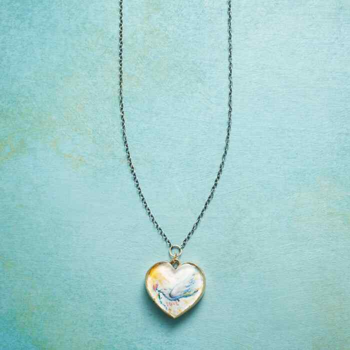 HANDPAINTED HEART NECKLACE