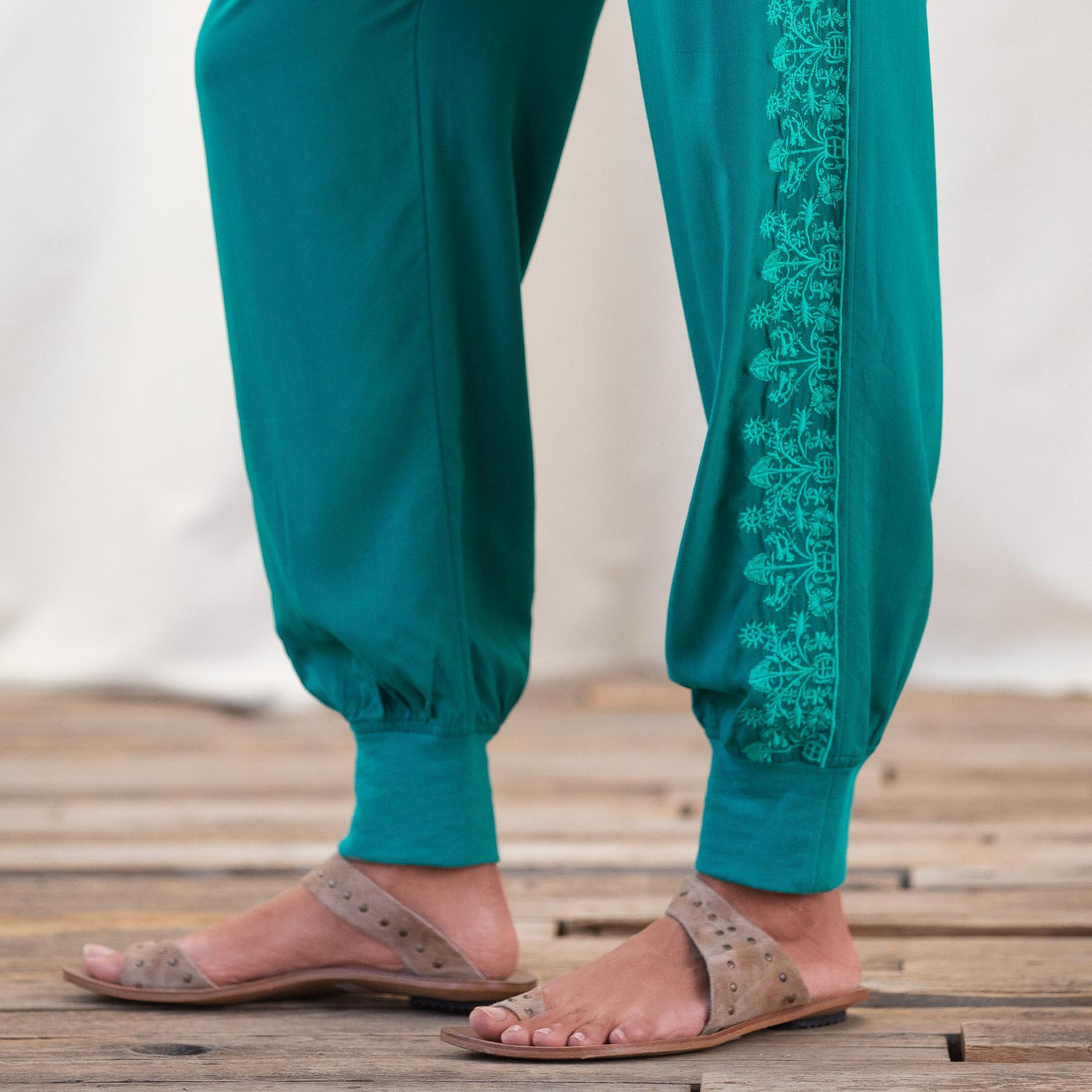 FLORAL POET PANTS: View 6