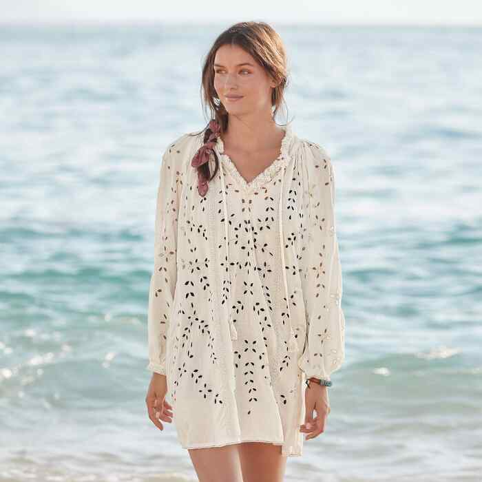TRISHA EYELET COVER-UP