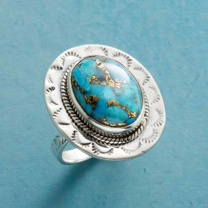 NEW TERRAIN TURQUOISE RING