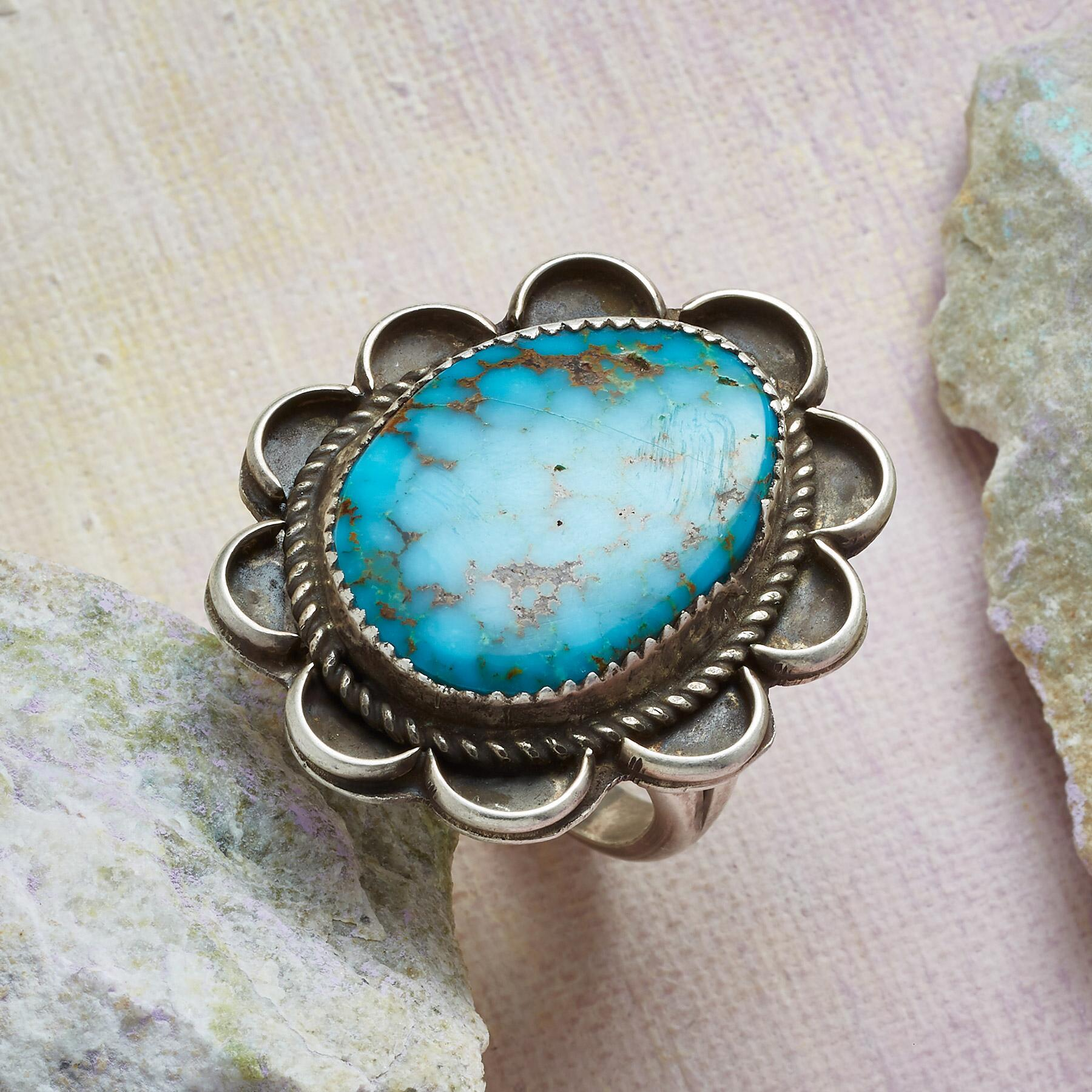 1970S TYRONE TURQUOISE RING: View 1
