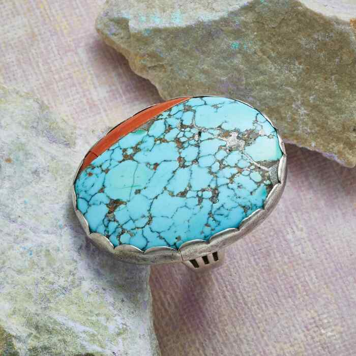 NAVAJO NUMBER 8 TURQUOISE RING