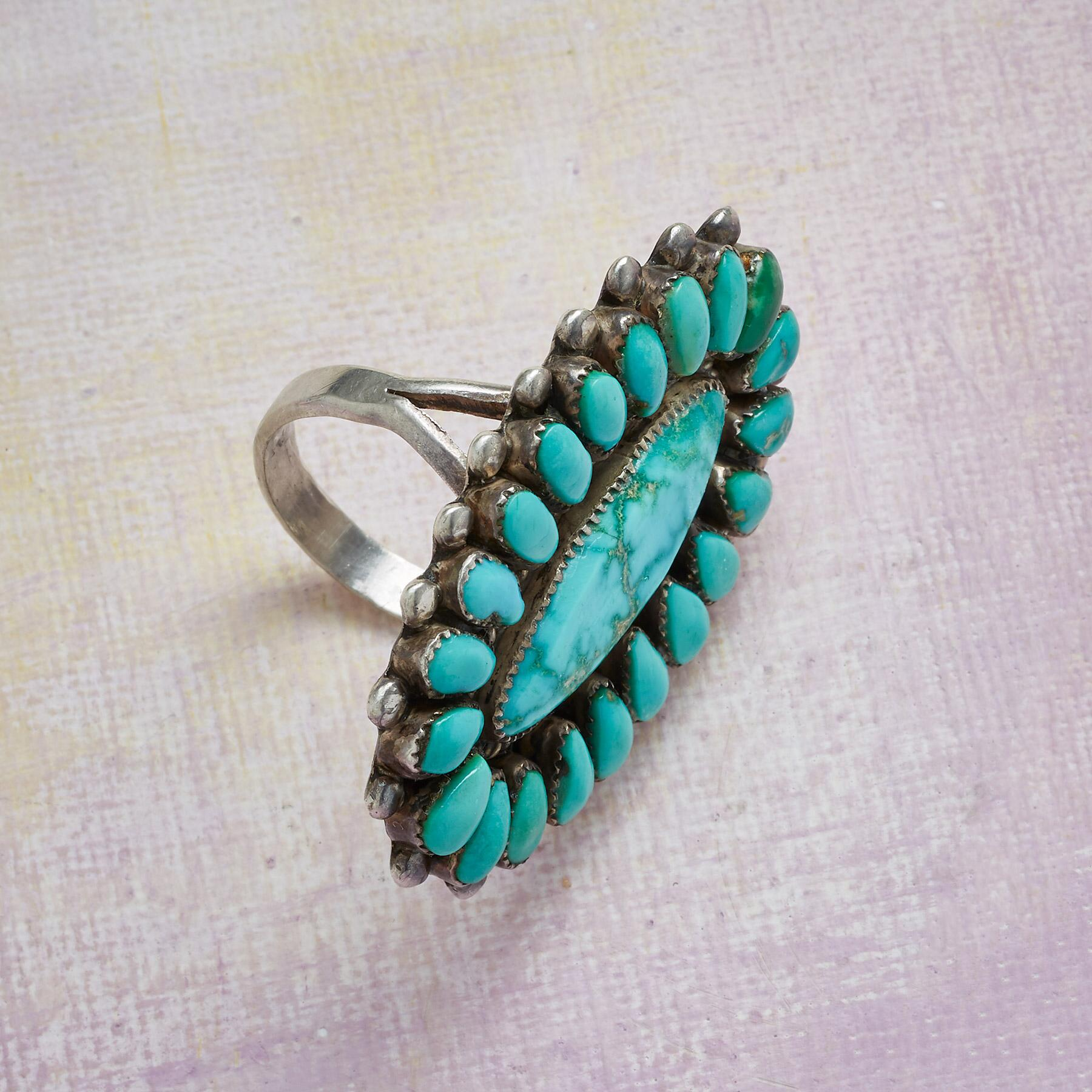 1950S LONE MOUNTAIN TURQUOISE RING: View 2