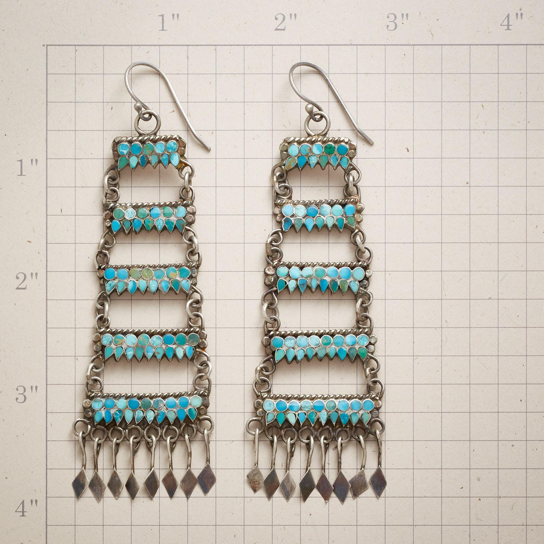 1970S ZUNI TURQUOISE EARRINGS: View 2