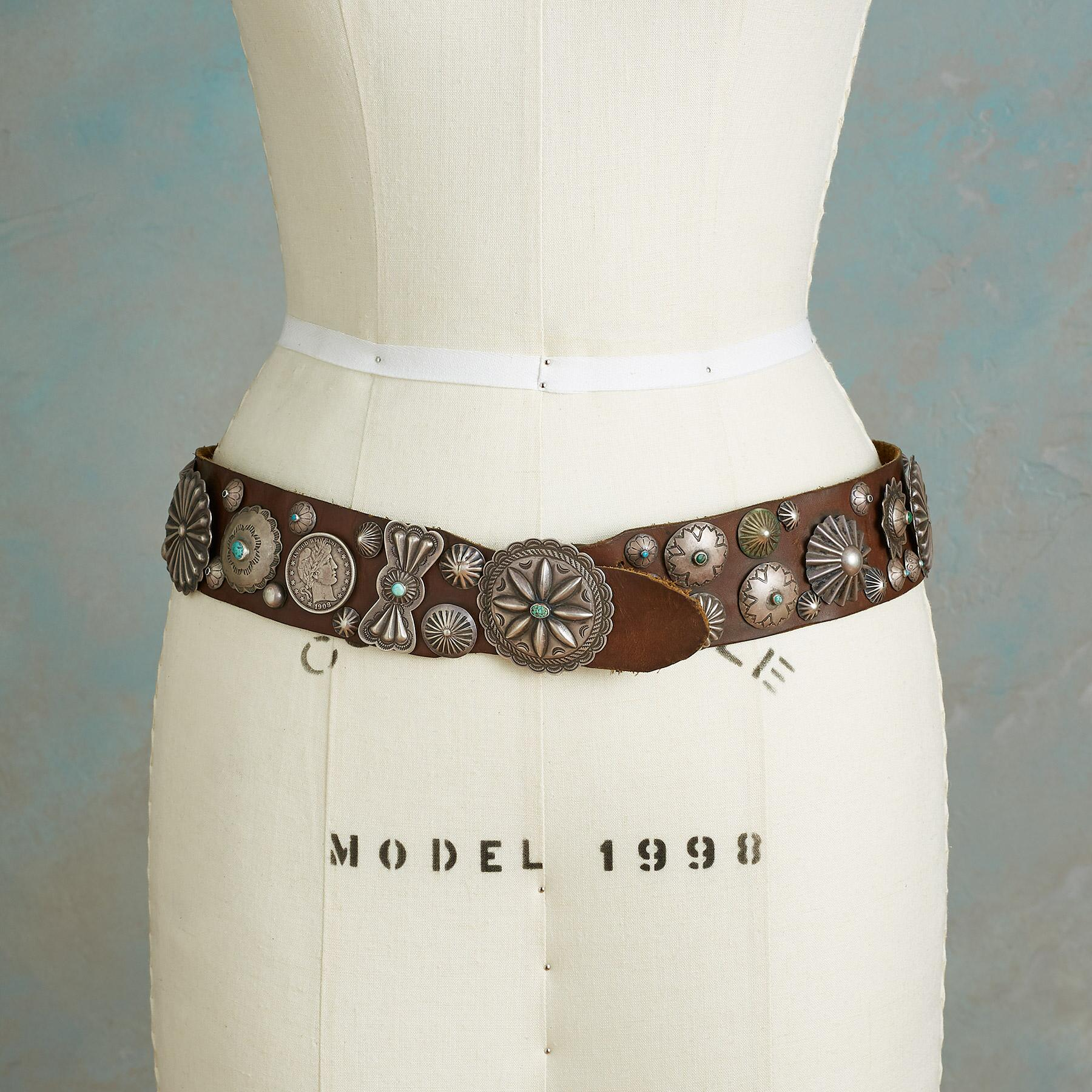 1930S SAMPLER CONCHO BELT: View 2