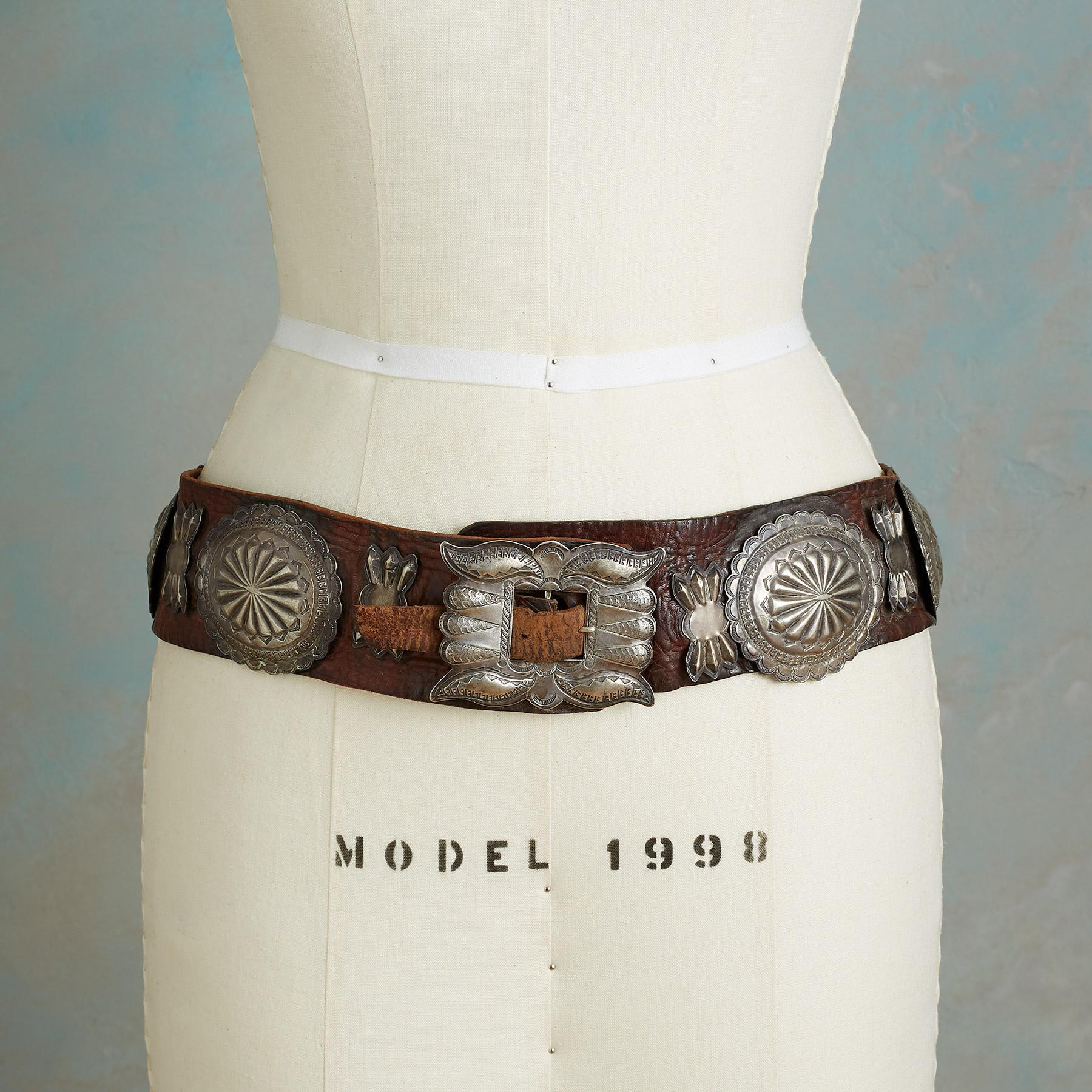 1930S COIN SILVER CONCHO BELT: View 2