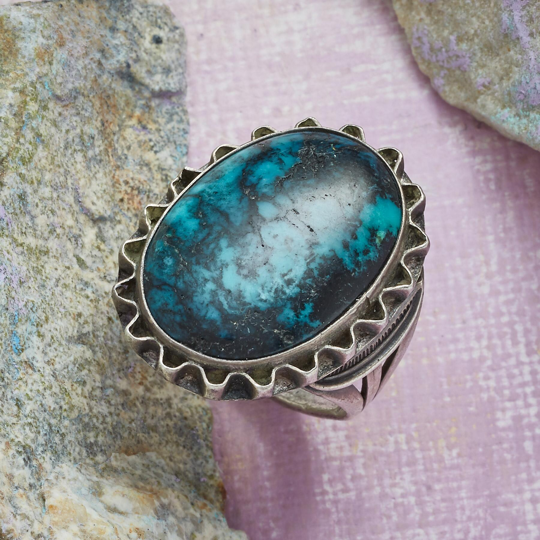 NAVAJO TURQUOISE RING: View 1