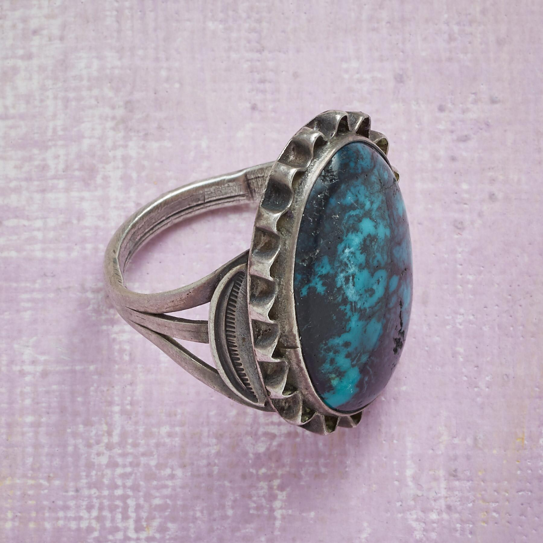 NAVAJO TURQUOISE RING: View 2