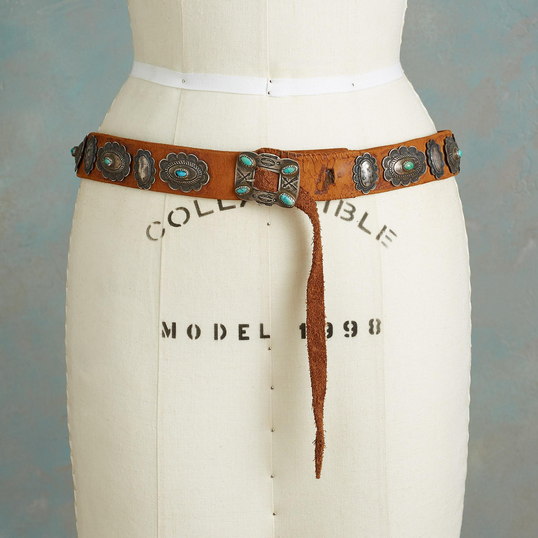 1930S TURQUOISE CONCHO BELT: View 2