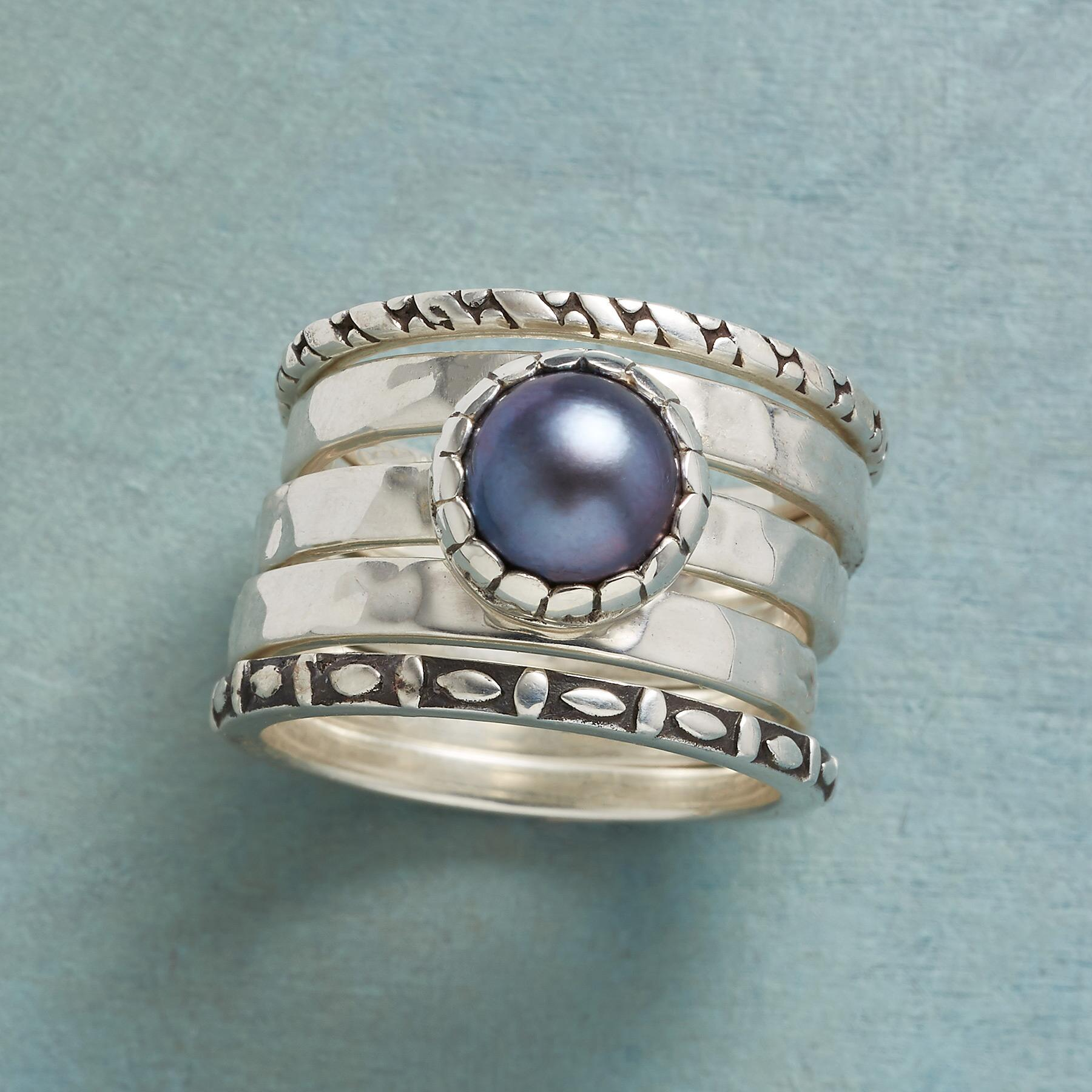 BLUE NOTE RINGS, SET OF 5: View 1