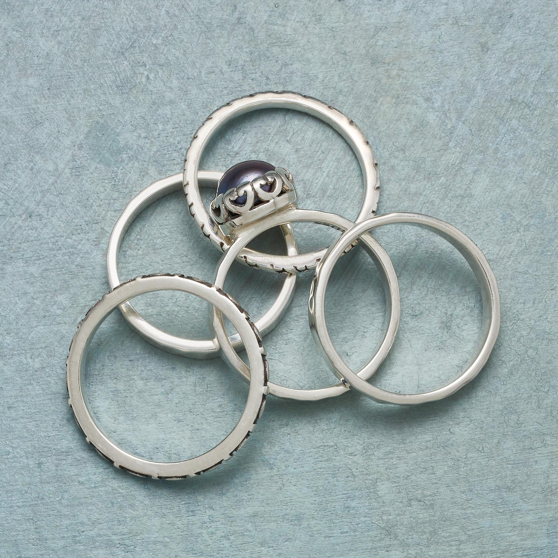 BLUE NOTE RINGS, SET OF 5: View 2