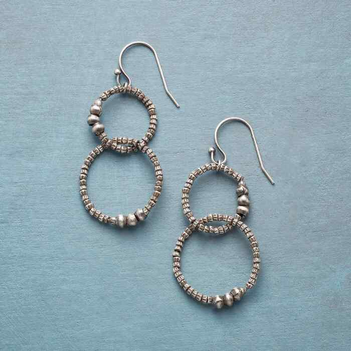 TWO HOOPS EARRINGS