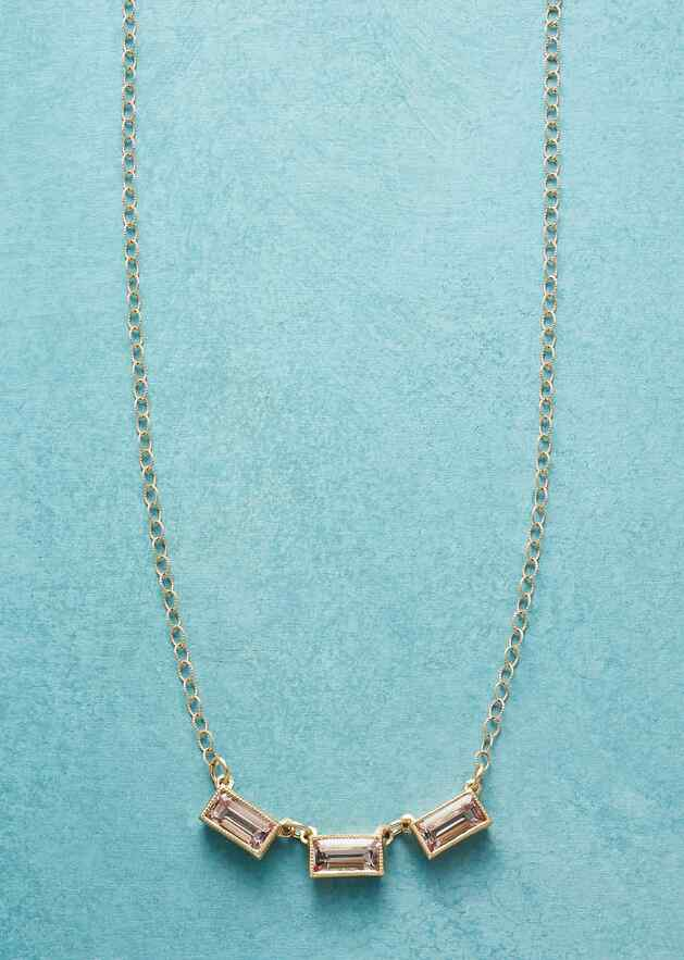 EARLIEST LIGHT MORGANITE NECKLACE