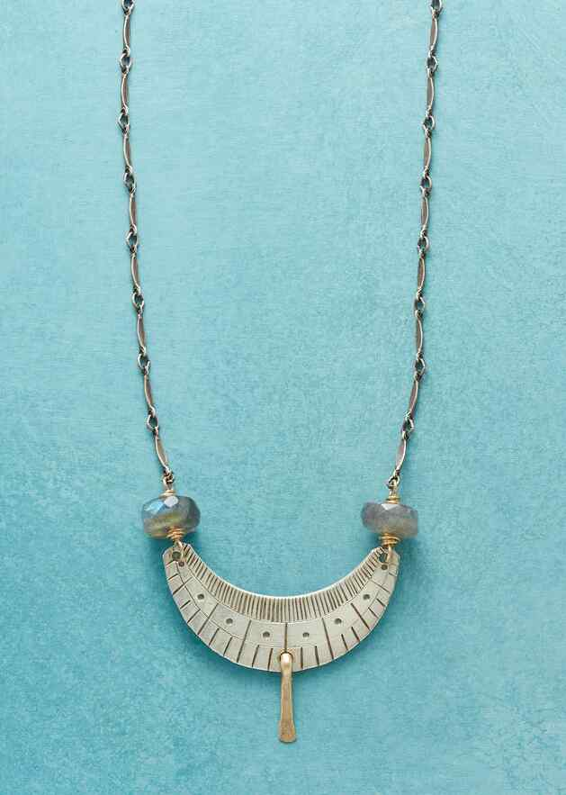 WEIGHTS AND BALANCES NECKLACE