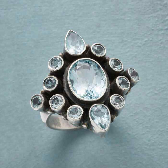 BLUE ICE CASTLE RING