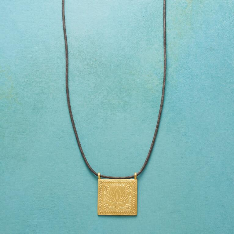 LOTUS TILE NECKLACE