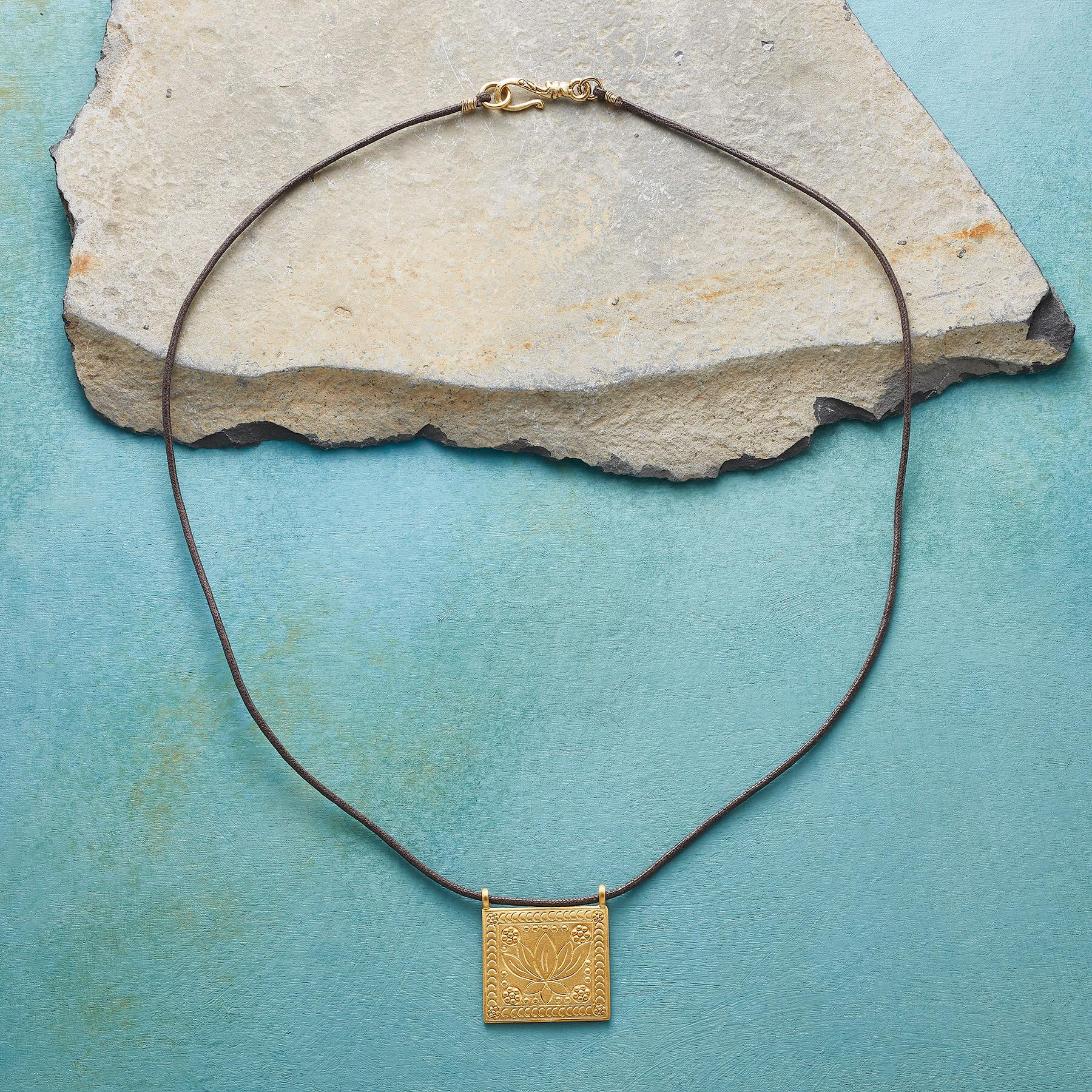 LOTUS TILE NECKLACE: View 2