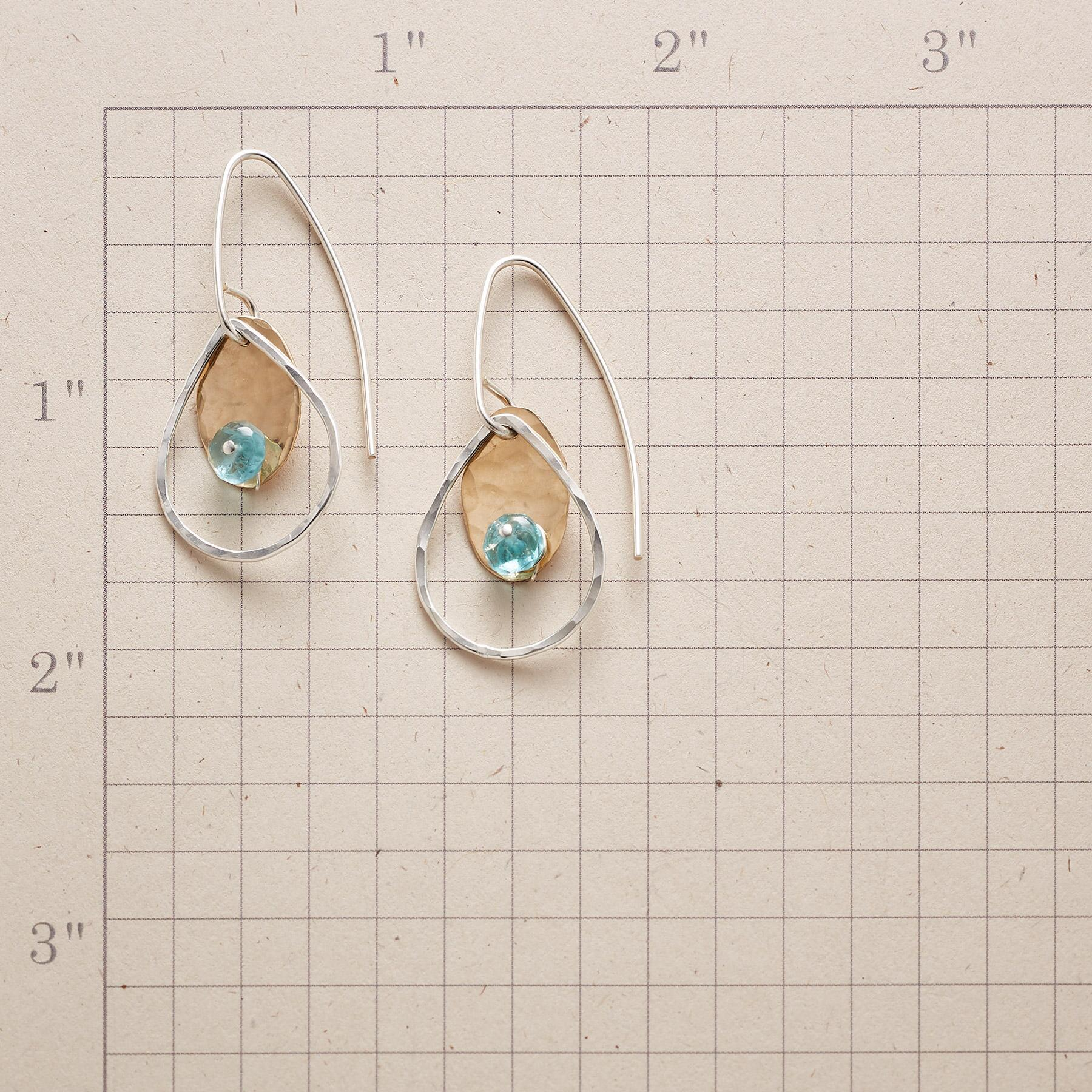DOTTED APATITE EARRINGS: View 2