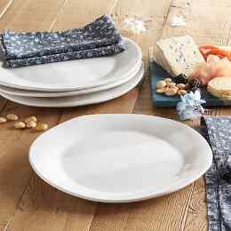 ALEX MARSHALL HANDCRAFTED DINNER PLATES, SET OF 4