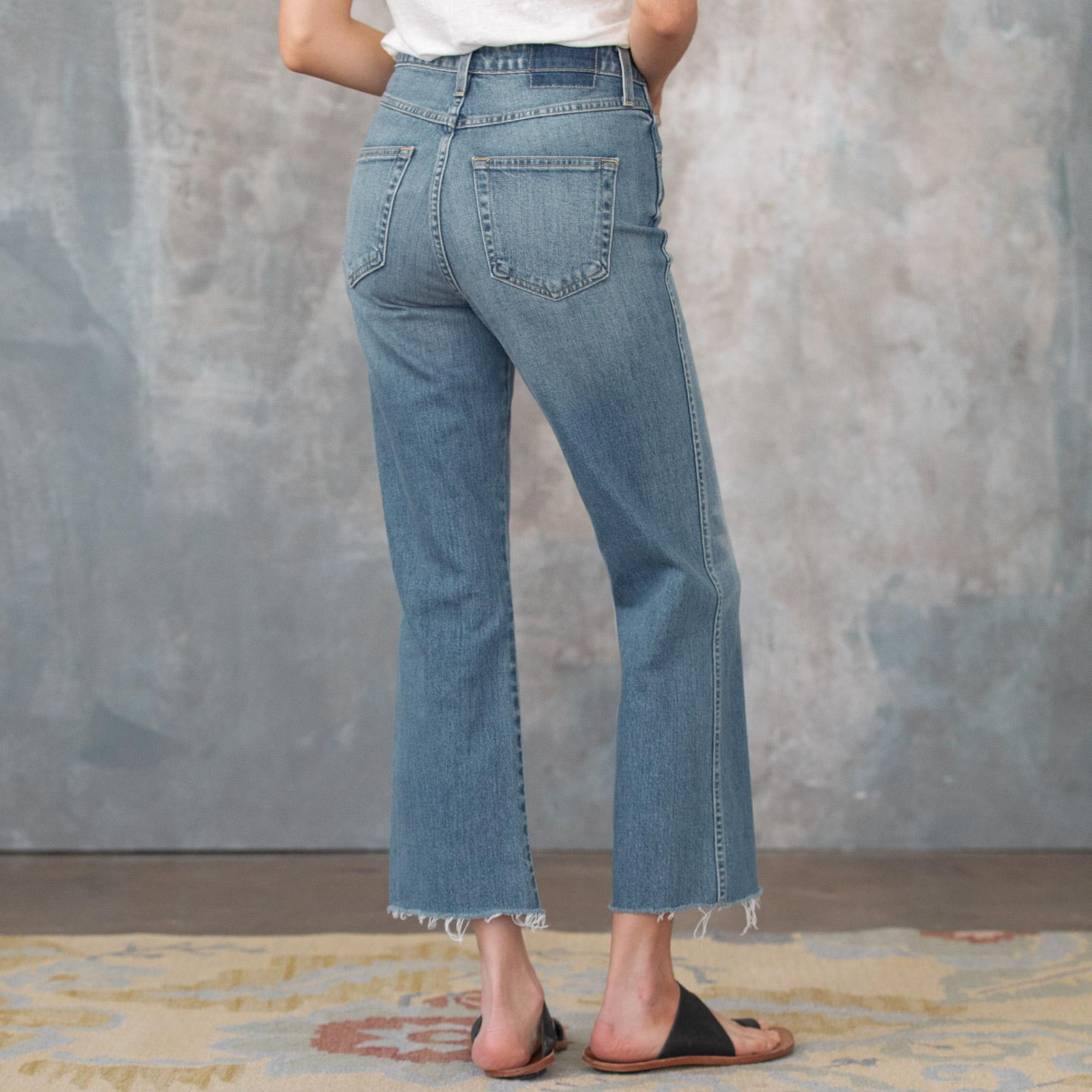 HIGH RISE KICK CROPPED JEANS: View 2