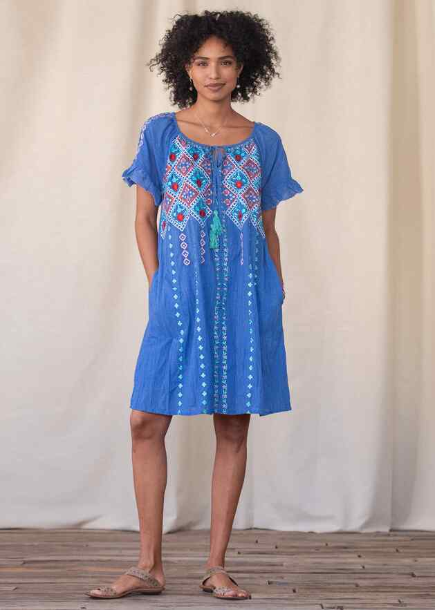 MELODY EMBROIDERED DRESS
