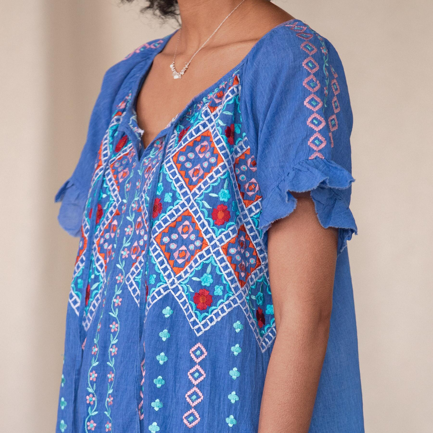 MELODY EMBROIDERED DRESS: View 4