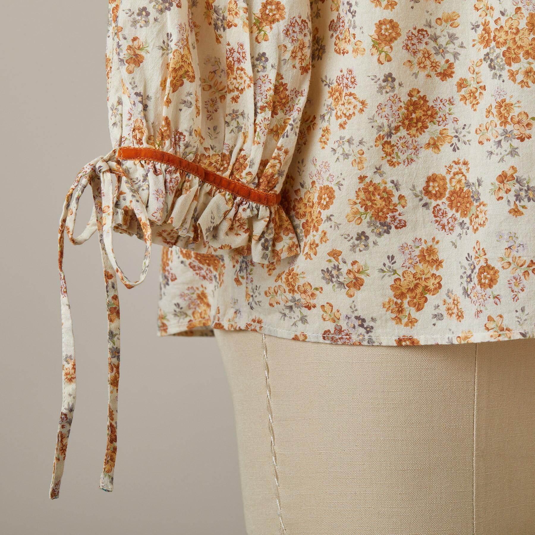 ASHTON FLORAL TOP - PETITES: View 5