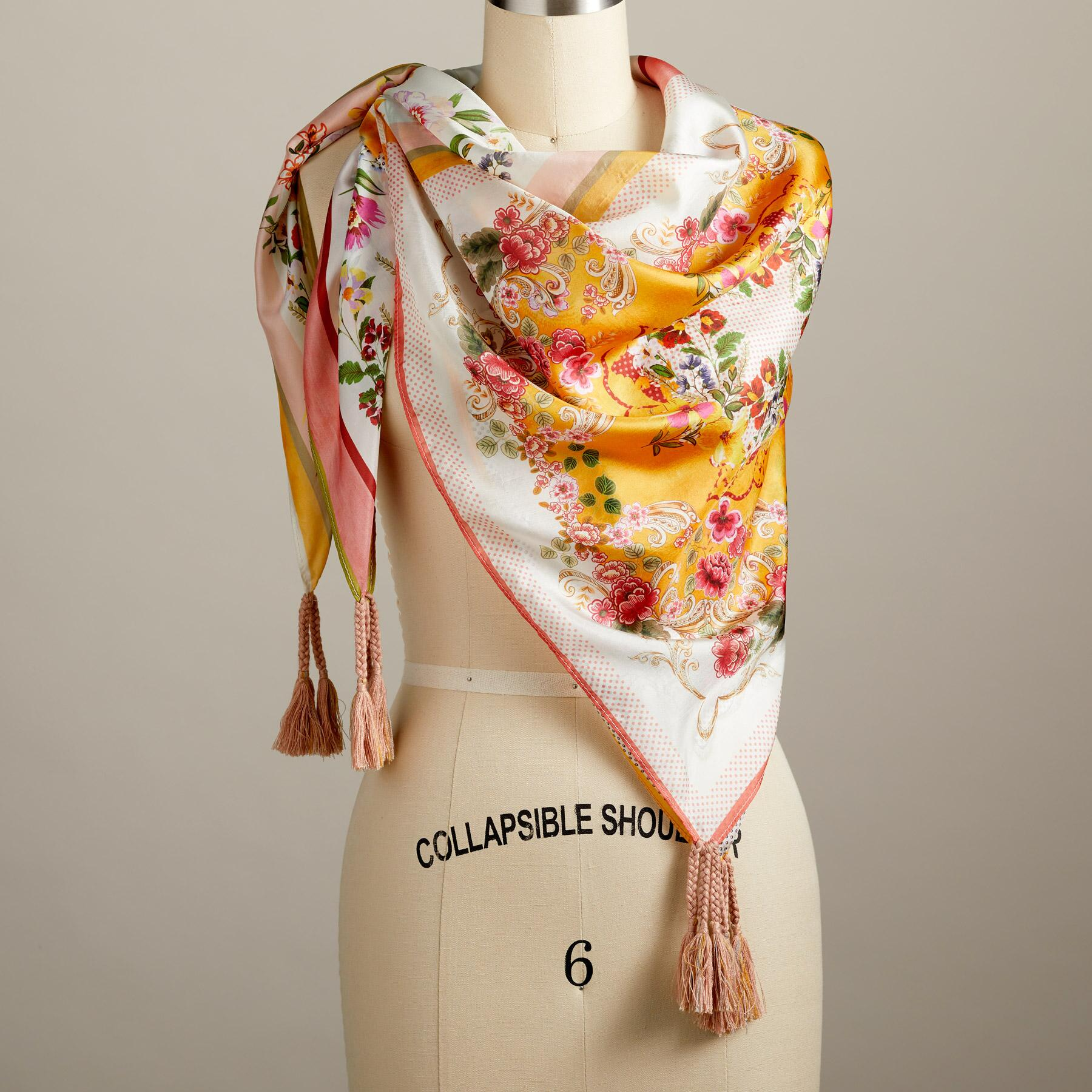 WILDFLOWERS IN LOVE SCARF: View 1
