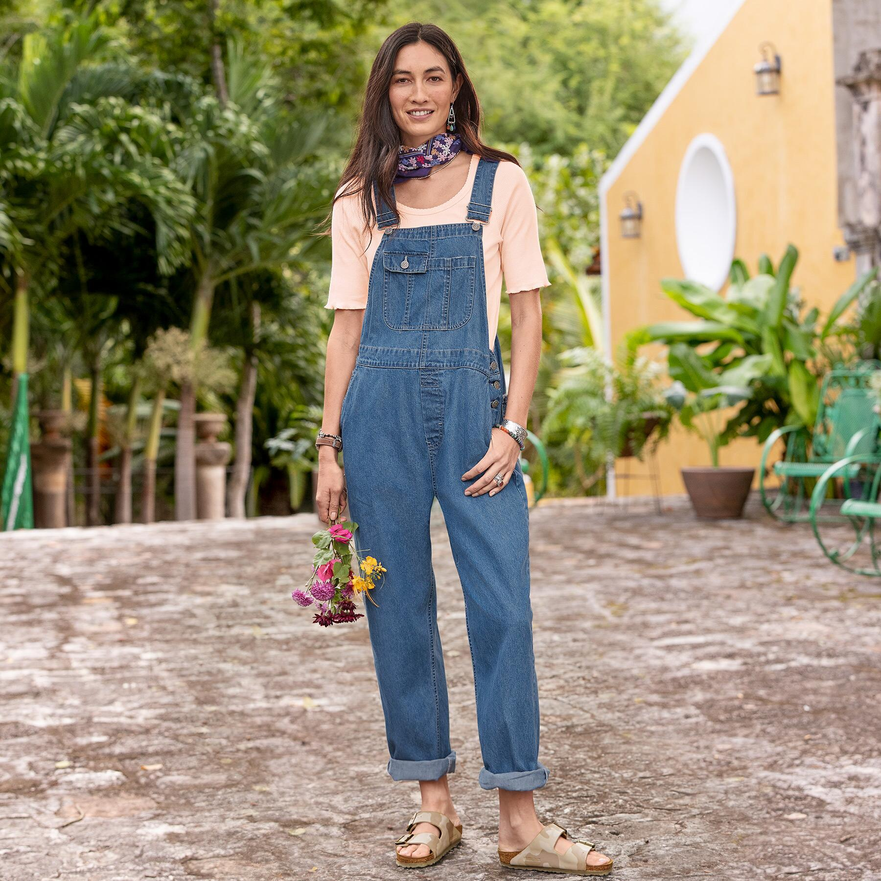 DENIM DARLING OVERALLS: View 1
