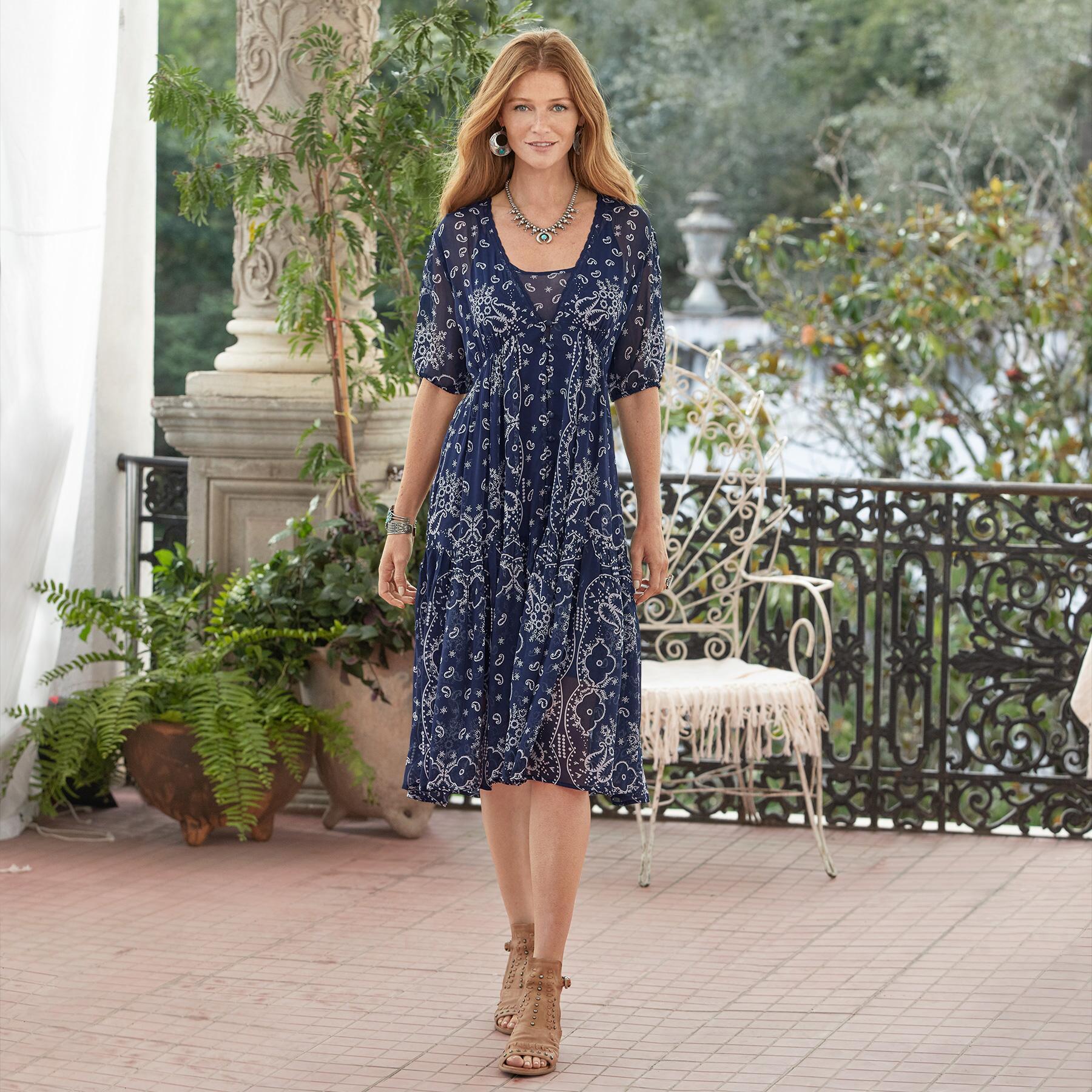 BRIEIA BANDANA DRESS - PETITES: View 1