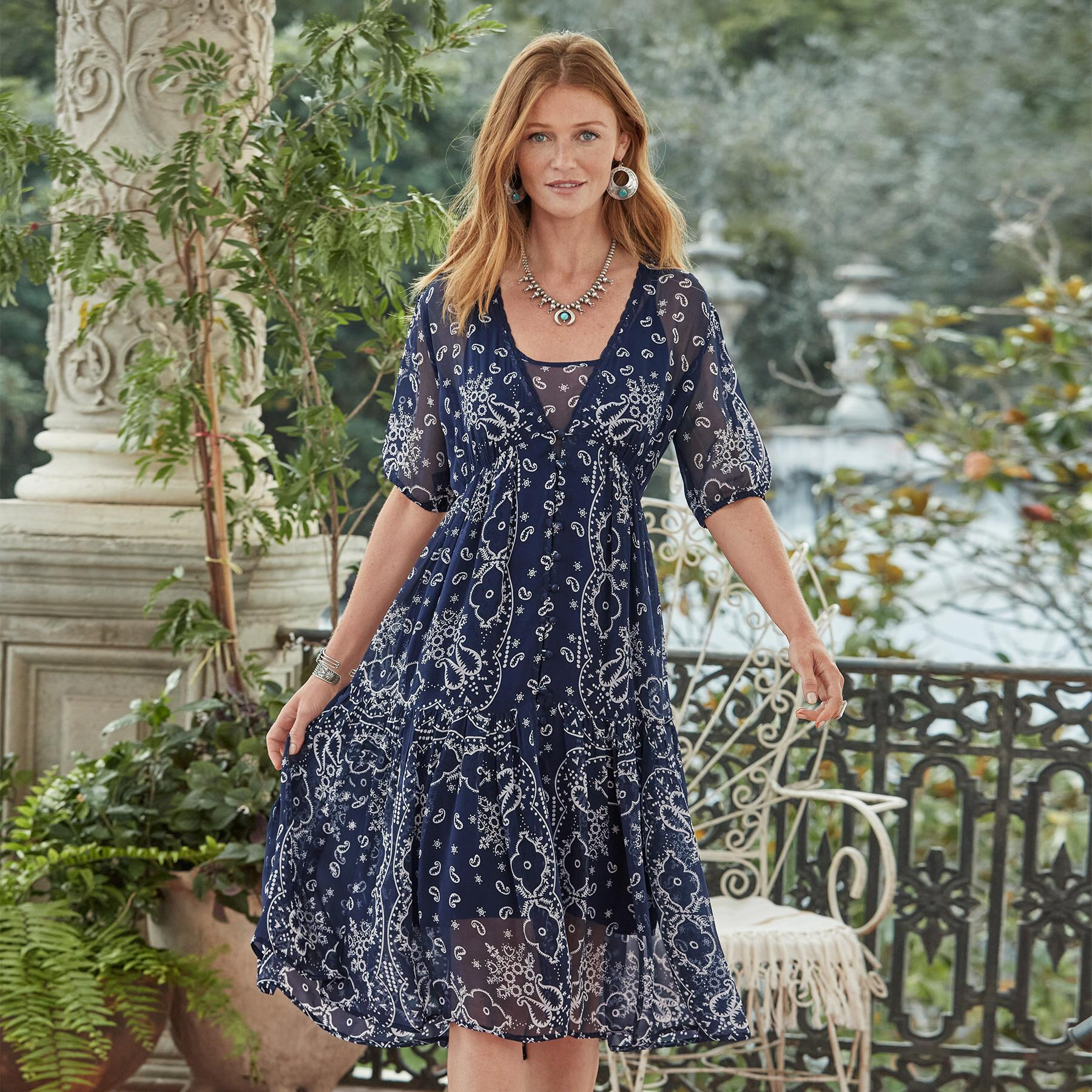 BRIEIA BANDANA DRESS - PETITES: View 2