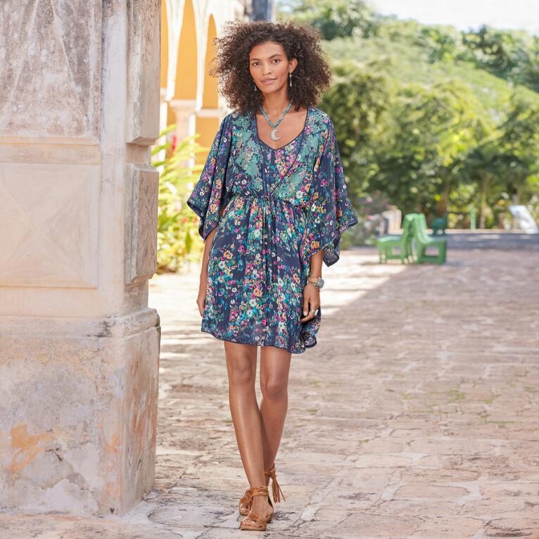 AZUL FLORAL DRESS - PETITES