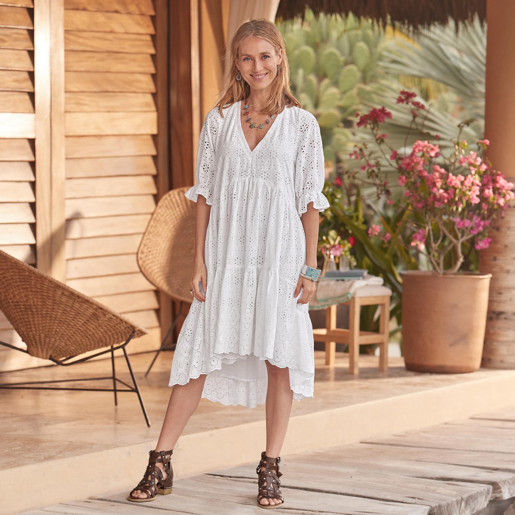 JASMINE EYELET DRESS: View 1