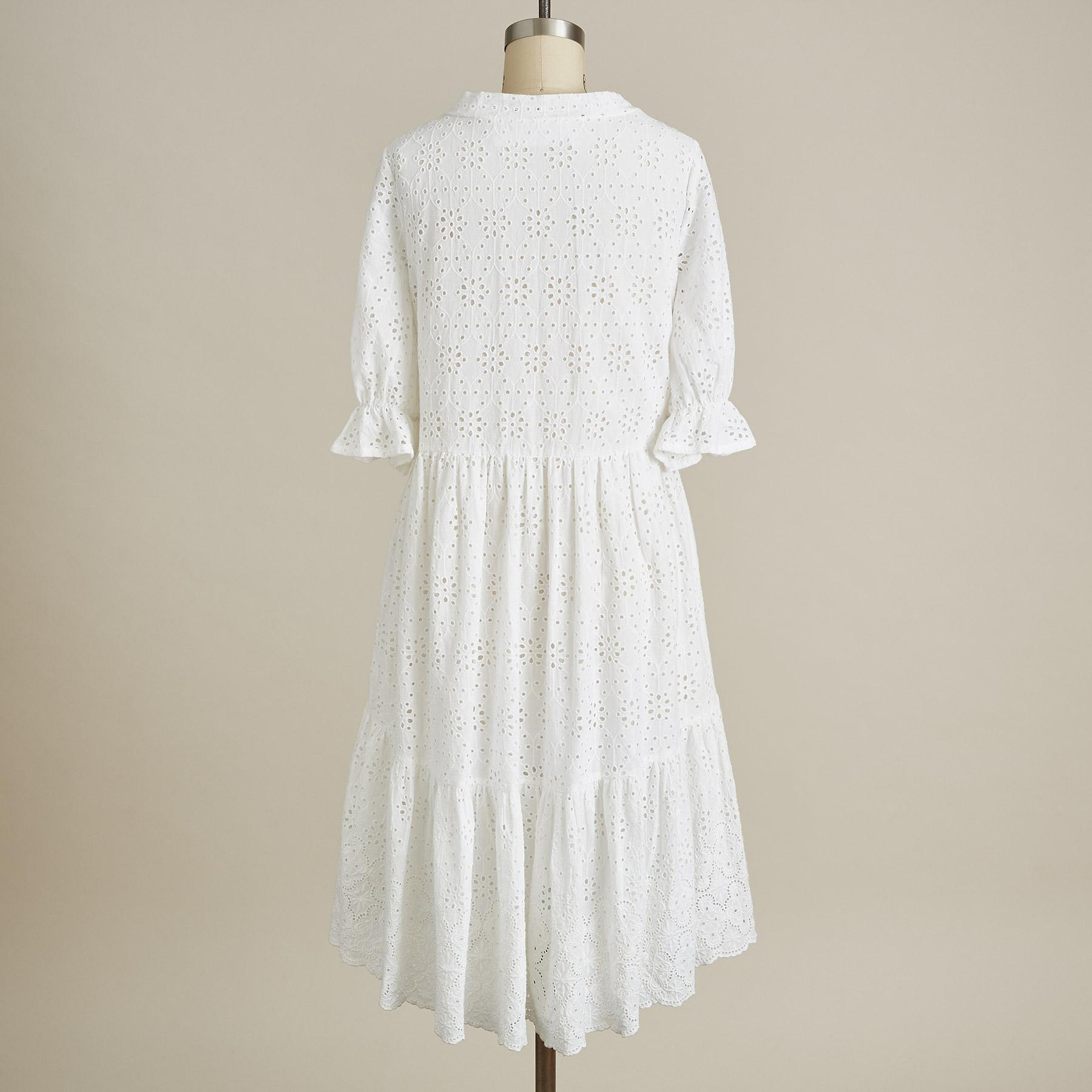 JASMINE EYELET DRESS - PETITE: View 3