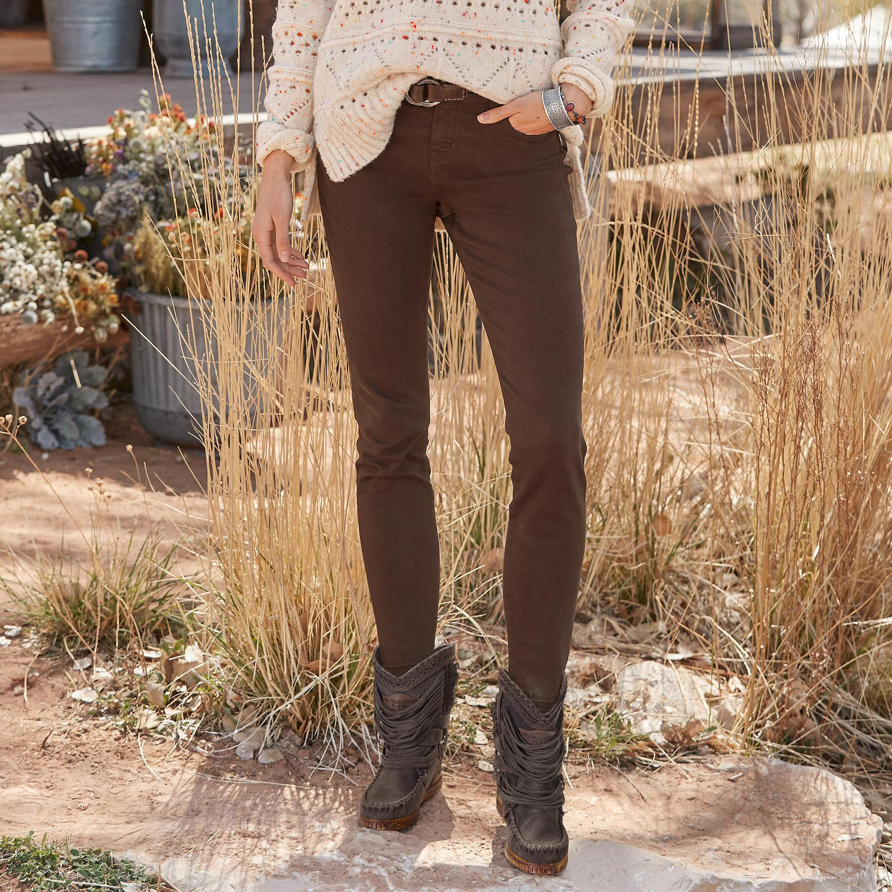 MARY JANE CROPPED MID RISE SKINNY JEANS: View 1