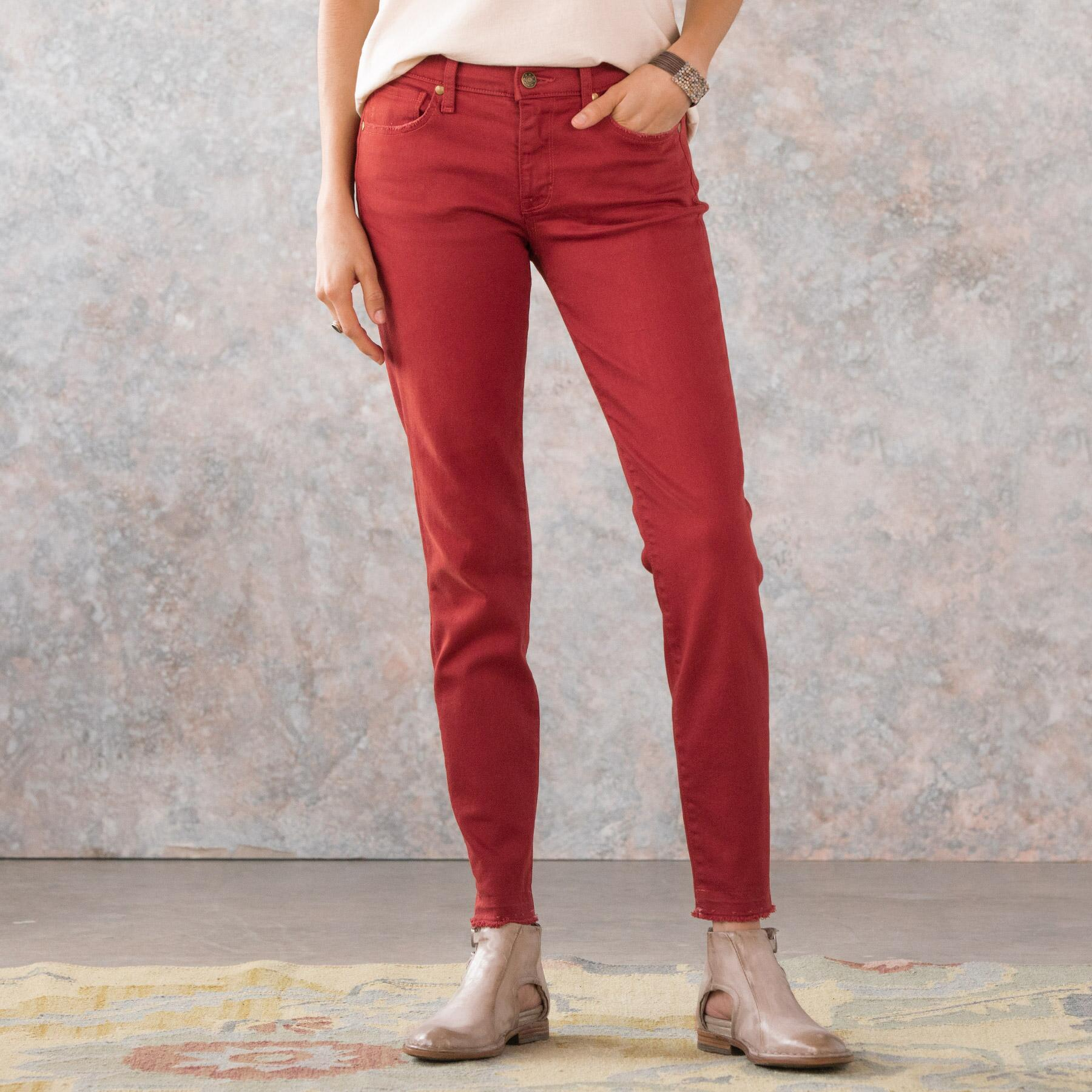 MARY JANE CROPPED MID RISE SKINNY JEANS: View 3