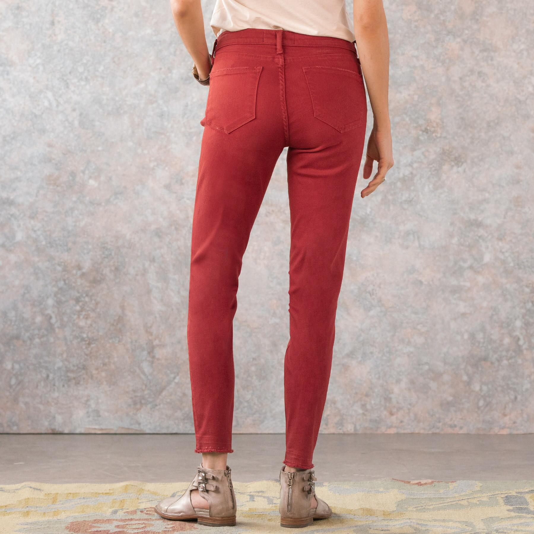 MARY JANE CROPPED MID RISE SKINNY JEANS: View 4