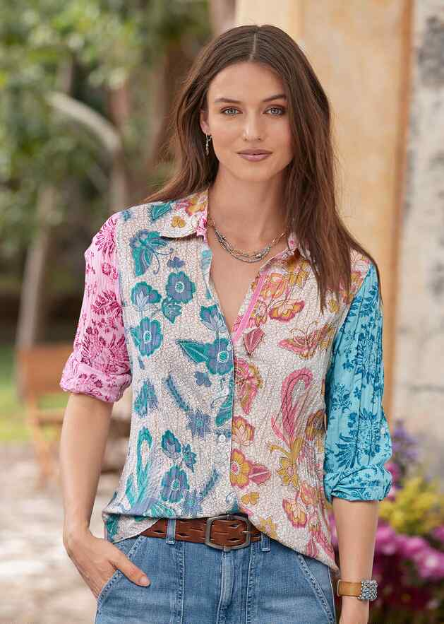 FLYING PEACOCK MIX TOP