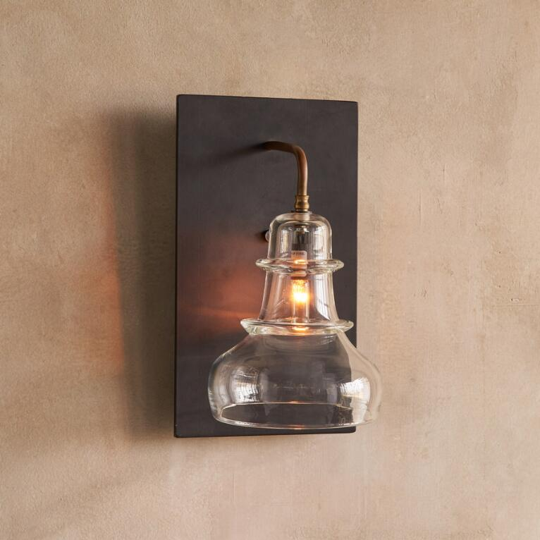 SALON GLASS SCONCE