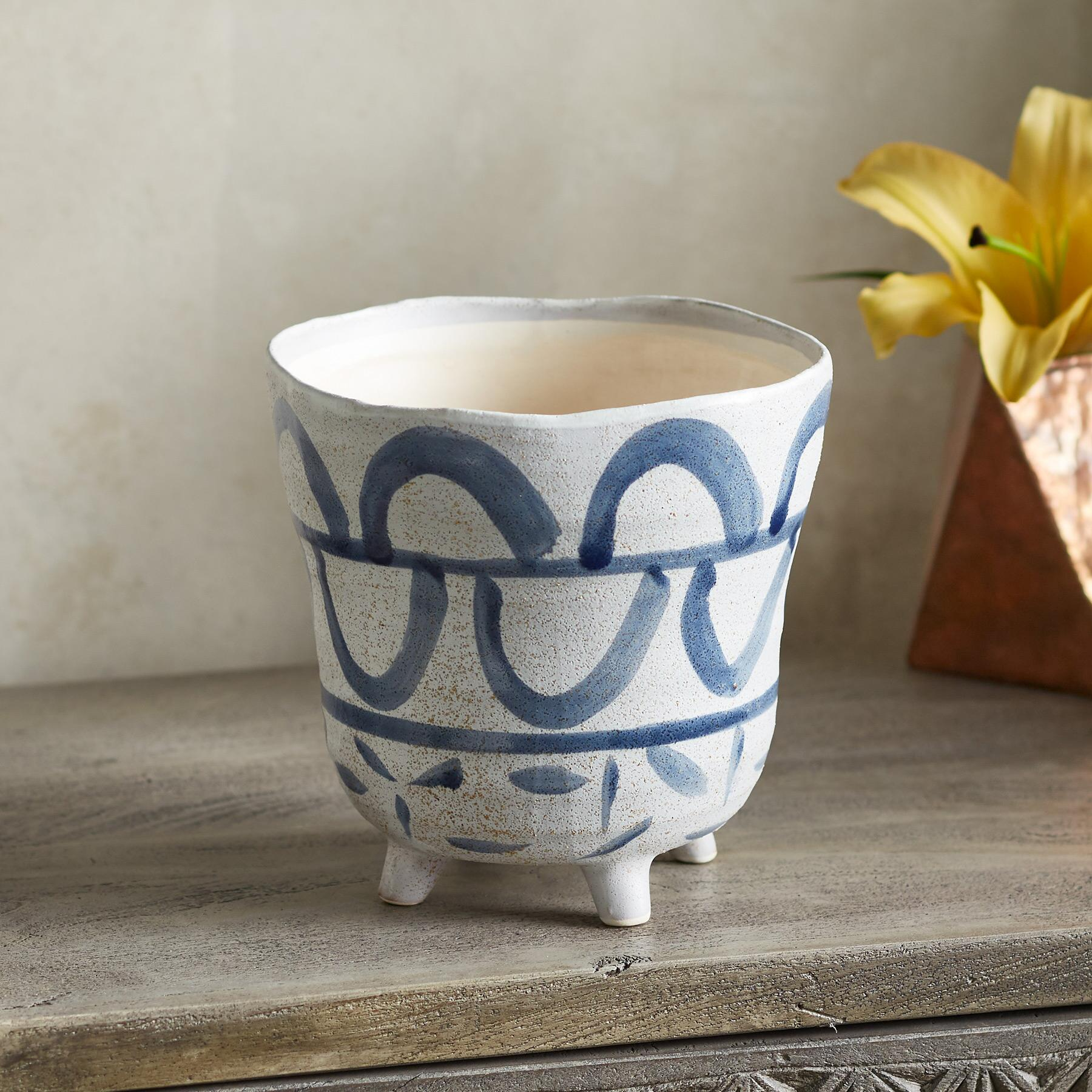 LIVIA FOOTED VASE: View 2