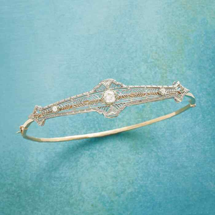 HAWTHORNE VINTAGE PIN BANGLE BRACELET
