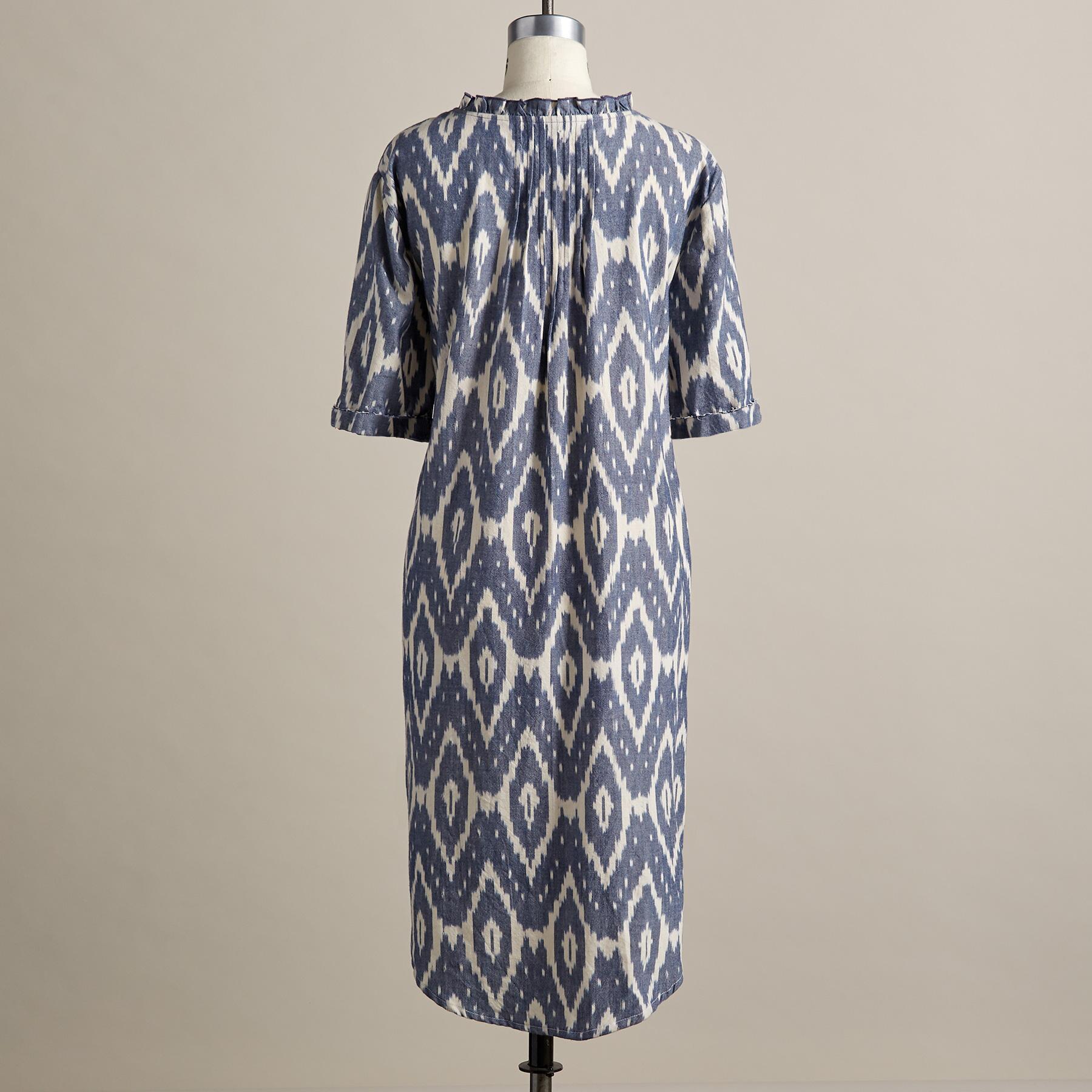ISABEL IKAT DRESS - PETITES: View 3