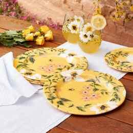 HONEYLAND DINNER PLATES, SET OF 4