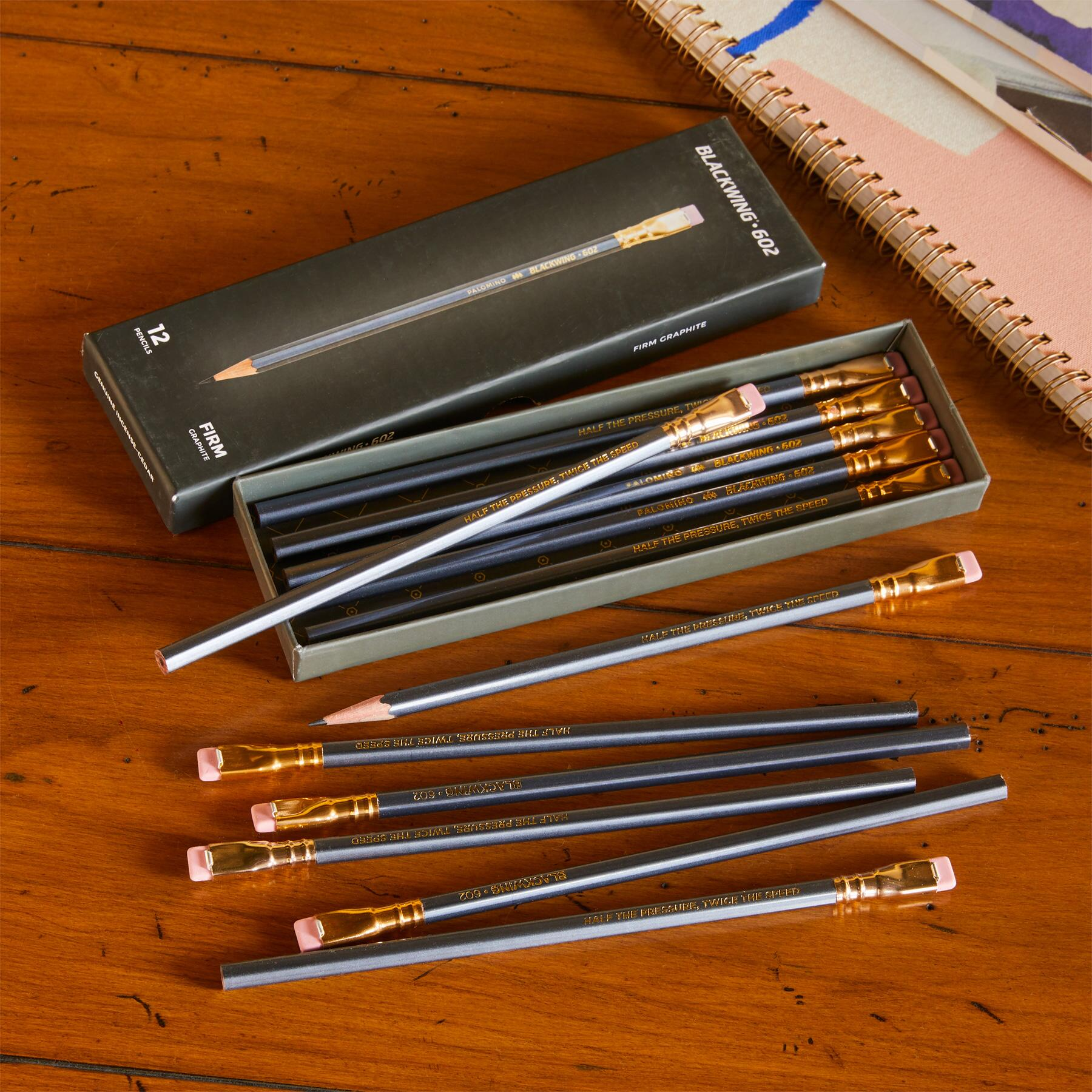 BLACKWING PENCIL AND REPLACEMENT ERASER SET: View 1