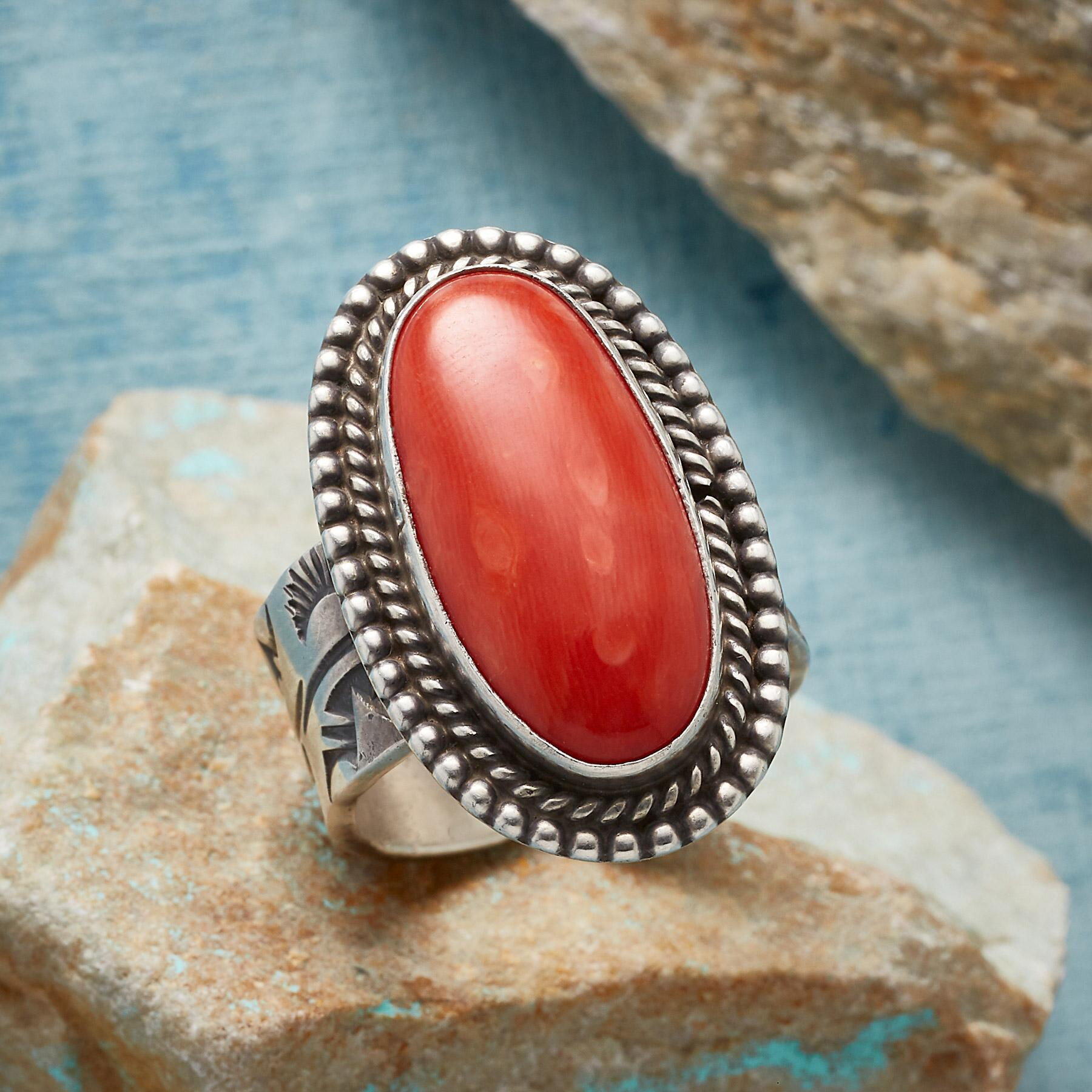 1960S CORAL RING: View 1