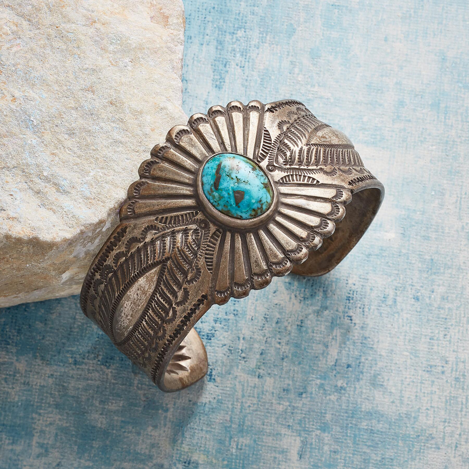 STORMY MOUNTAIN TURQUOISE CUFF: View 1